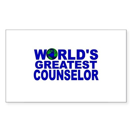 World's Greatest Counselor Rectangle Sticker