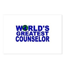 World's Greatest Counselor Postcards (Package of 8