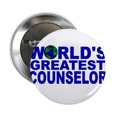 """World's Greatest Counselor 2.25"""" Button (100 pack)"""