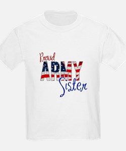 Proud Patriotic Army Sister T-Shirt