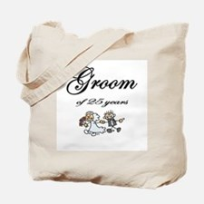 25th Wedding Anniversary Groom Gifts Tote Bag