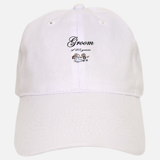 25th Wedding Anniversary Groom Gifts Baseball Baseball Cap