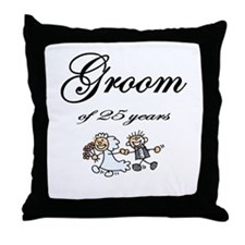 25th Wedding Anniversary Groom Gifts Throw Pillow