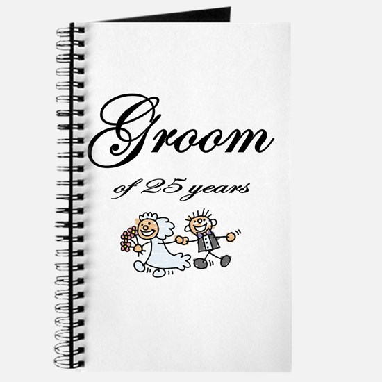 25th Wedding Anniversary Groom Gifts Journal