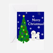Bichon Frise Christmas Greeting Card