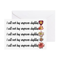 No More Daylilies Greeting Cards (Pk of 20)