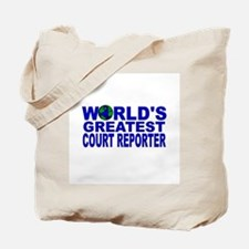 World's Greatest Court Report Tote Bag