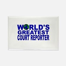 World's Greatest Court Report Rectangle Magnet