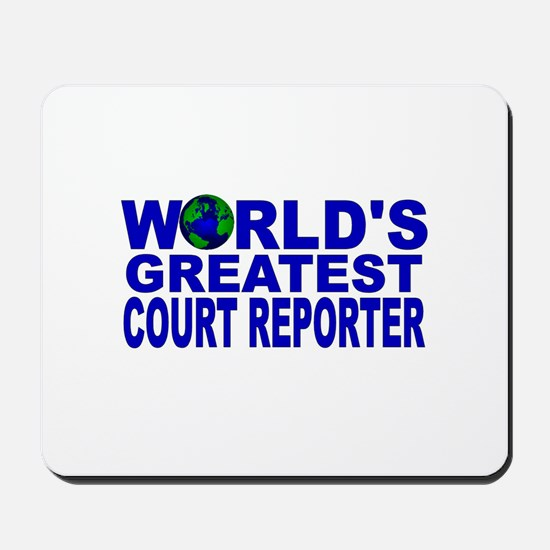World's Greatest Court Report Mousepad