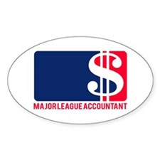 Major League Accountant Oval Decal