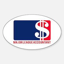 Major League Accountant Oval Decal