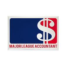 Major League Accountant Rectangle Magnet