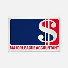 Major League Accountant Rectangle Magnet