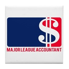 Major League Accountant Tile Coaster