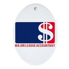 Major League Accountant Oval Ornament