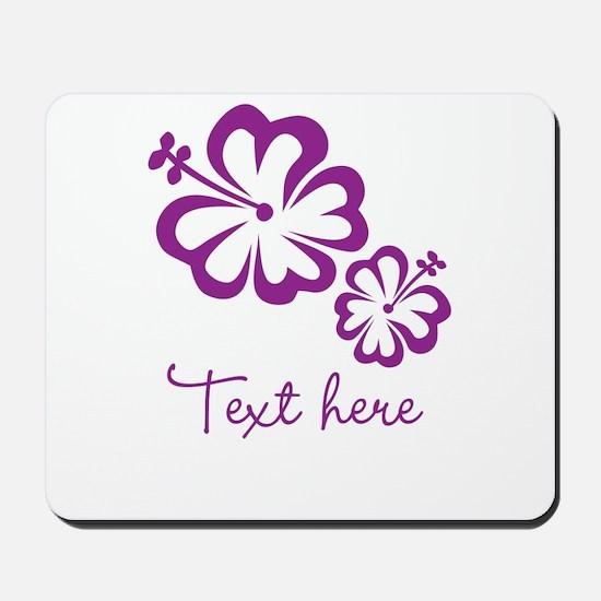 Custom Flower Design Mousepad