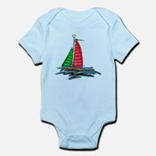 Red & Green Christmas Sailboat Body Suit