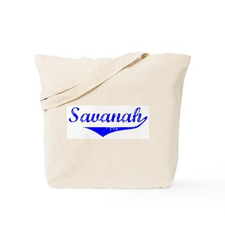 Savanah Vintage (Blue) Tote Bag