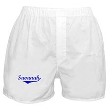 Savanah Vintage (Blue) Boxer Shorts