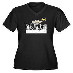 Heaven - Thoreau Women's Plus Size V-Neck Dark T-S