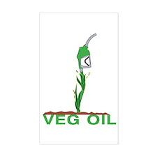 Veg Oil Rectangle Decal