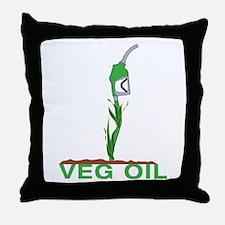 Veg Oil Throw Pillow