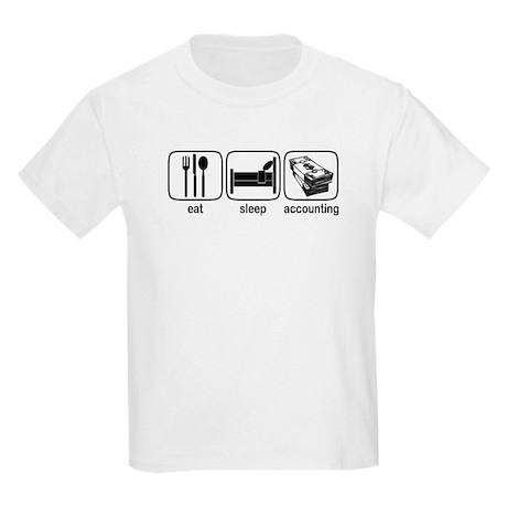 Eat Sleep Accounting Kids Light T-Shirt