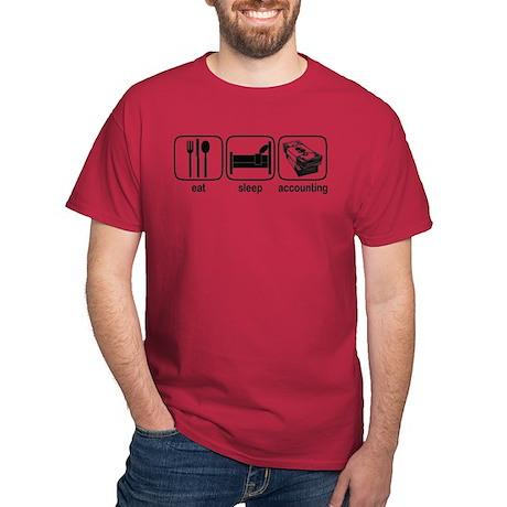 Eat Sleep Accounting Dark T-Shirt