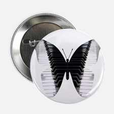 """Butterfly Piano 2.25"""" Button"""