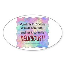Messy Kitchen Oval Decal