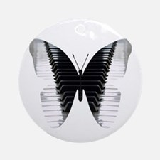 Butterfly Piano Round Ornament