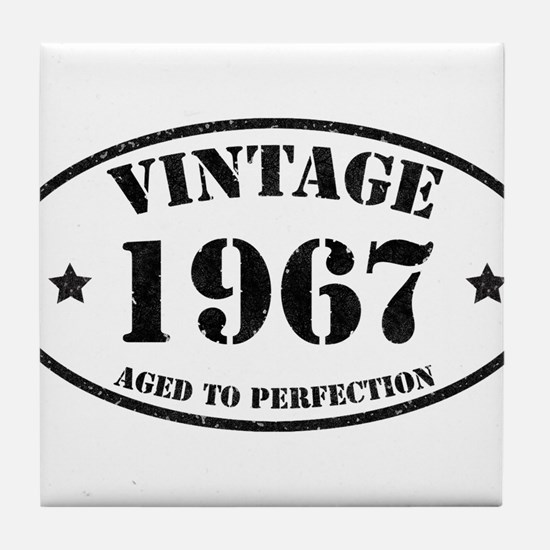 Vintage Aged to Perfection 1967 Tile Coaster