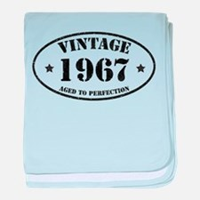 Vintage Aged to Perfection 1967 baby blanket