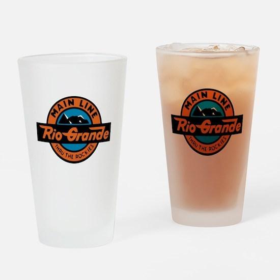 Rio Grande Railway logo 2 Drinking Glass