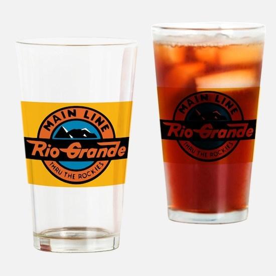 Rio Grande Railway logo 1 Drinking Glass