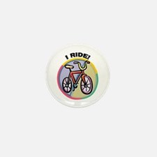 I RIDE Bicycle Mini Button (10 pack)