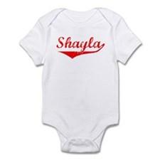 Shayla Vintage (Red) Infant Bodysuit