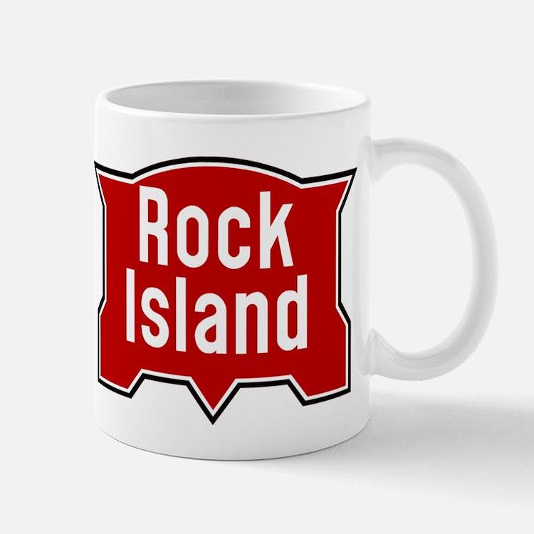 Rock Island railway logo 2 Mugs