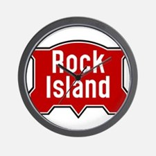 Rock Island railway logo 2 Wall Clock