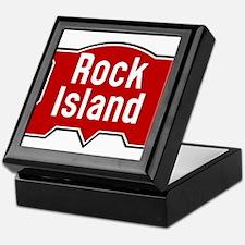 Rock Island railway logo 2 Keepsake Box