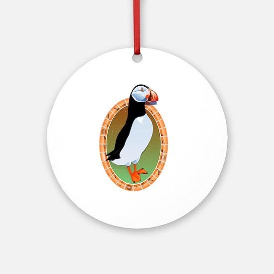 Huffin Puffin Ornament (Round)