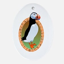 Huffin Puffin Oval Ornament