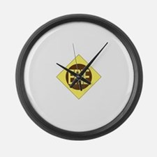 Erie Railway logo 1 Large Wall Clock