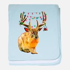 Christmas Jackalope baby blanket