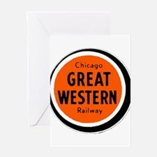 Chicago Great Western Railway logo Greeting Cards