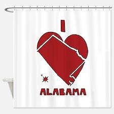 I Love Alabama Shower Curtain