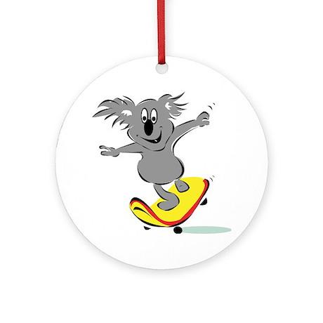 Skater Koala Ornament (Round)