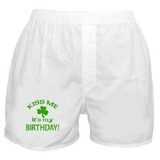 Kiss Me It's My Birthday St Pat's Day Boxer Shorts