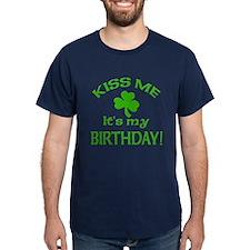 Kiss Me It's My Birthday St Pat's Day T-Shirt