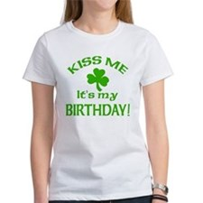 Kiss Me It's My Birthday St Pat's Day Tee